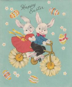 Happy Easter Bike Bunny Card