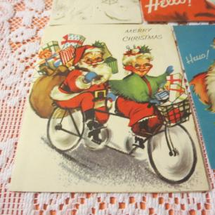 Mr Mrs Santa on Tandem