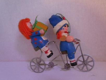 raggety ann and andy on tandem  bicycle built for two
