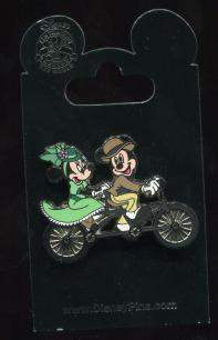 Micky and Minnie Tandem Riding Pin